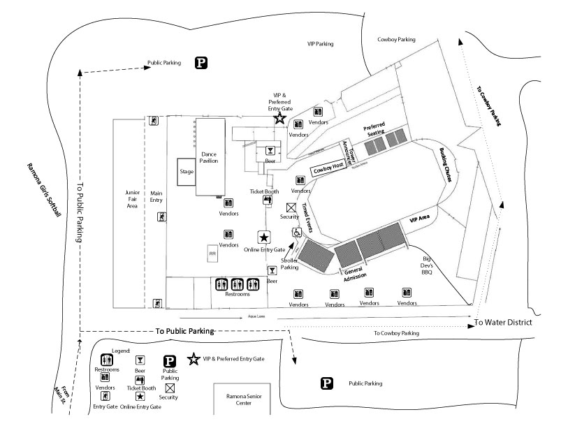 Ramona Rodeo Map